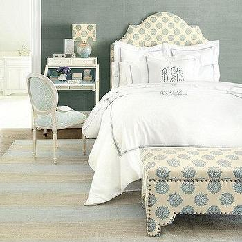 Bedding - Amelie Embroidered Duvet - Spa | Ballard Designs - blue hotel bedding, hotel bedding, monogrammed hotel bedding, spa blue hotel bedding,