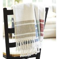 Decor/Accessories - Sweet Tea Towel | Ballard Designs - striped tea towel, tasseled tea towel, fringed tea towel,
