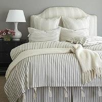 Bedding - Ticking Stripe Duvet - Black | Ballard Designs - black ticking duvet, ticking duvet, black ticking bedding, black ticking bed linens, ticking bed linens,