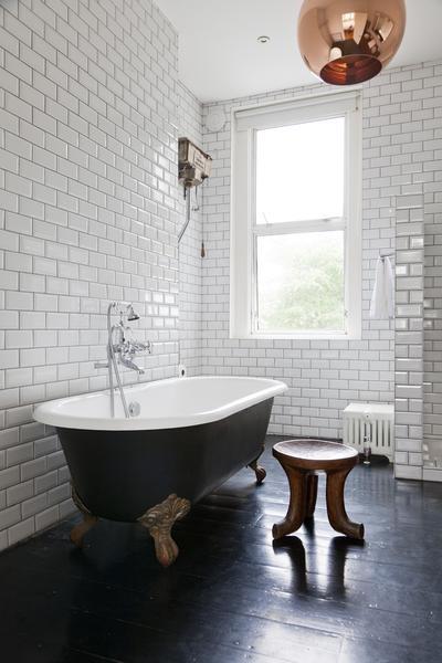 Black Clawfoot Tub Contemporary Bathroom One Fine Stay