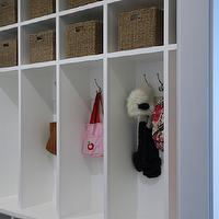 Brown Eyed Fox - laundry/mud rooms - mudroom, mudroom lockers, open lockers, mudroom cubbies, mudroom hooks, kids mudroom,  Mudroom features
