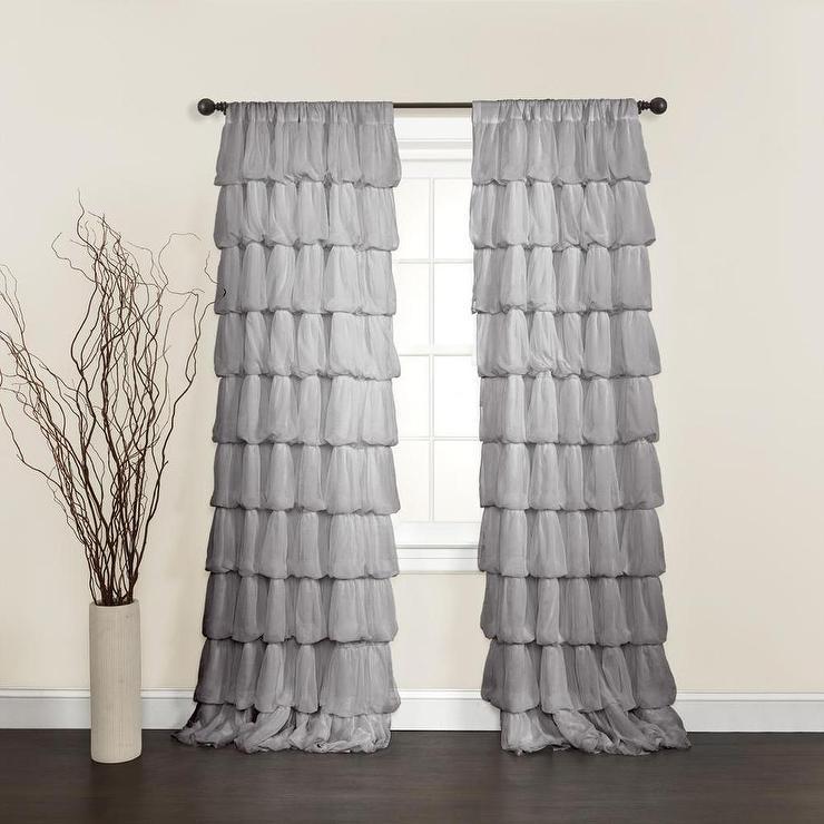 Lush Decor Olivia Grey 84 inch Curtain Panel Overstockcom