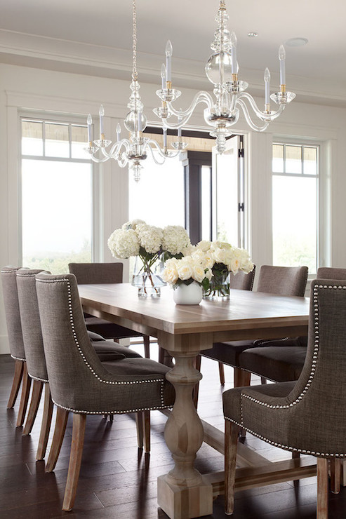 Taupe Dining Chairs - Traditional - dining room - Moeski Design Agency
