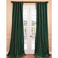 Wallpaper - Emerald Green Faux Silk Taffeta Curtain Panel | Overstock.com - emerald green drapes, emerald green curtains, emerald green faux silk taffeta curtains, emerald green faux silk taffeta drapes,