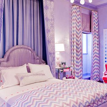 Purple Bedrooms, Contemporary, girl's room, Robyn Karp Interiors