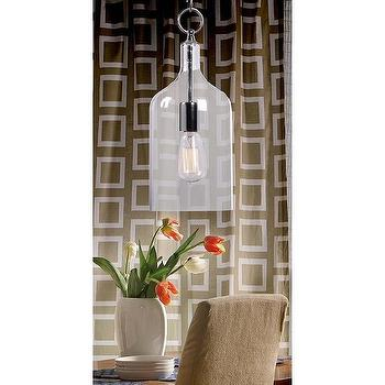 Lighting - Corsica 1-light Chrome Mini Pendant | Overstock.com - glass bottle pendant, glass pendant light, bottle shaped glass pendant,
