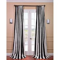 Window Treatments - Cabana Black Stripe Cotton Curtain Panel | Overstock.com - black and white striped drapes, black and white striped curtains, black and white vertical striped drapes, black and white vertical striped curtains,
