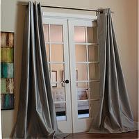 Window Treatments - Mia Faux Silk 96-inch Curtain Panel | Overstock.com - gray faux silk drapes, gray faux silk curtains, gray faux silk grommet drapes, gray faux silk grommet curtains,