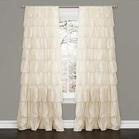 Window Treatments - Lush Decor Ivory 84-inch Ruffle Curtain Panel | Overstock.com - ivory ruffle drapes, ivory ruffle curtains, ivory ruffled drapes, ivory ruffled curtains,