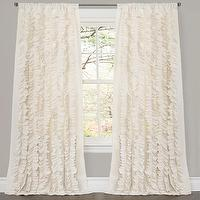 Window Treatments - Lush Decor Belle Ivory 84-inch Curtain Panel | Overstock.com - ruffled drapes, ivory ruffled drapes, ivory ruffled curtains,
