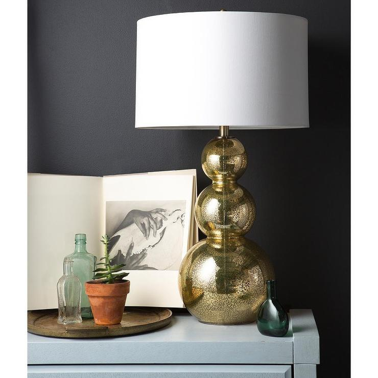 Glamorous Gold Glass Table Lamp Overstock Com