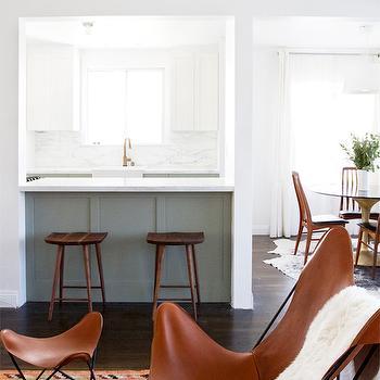 Ikea Cabinets, Transitional, kitchen, Farrow and Ball Pigeon, Smitten Studio