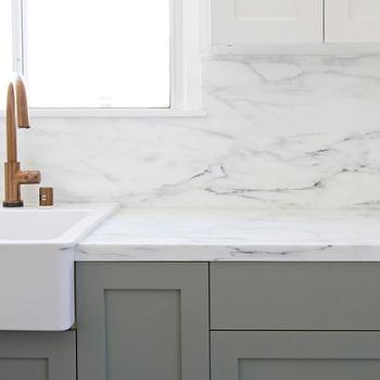 Ikea Domsjo Sink, Transitional, kitchen, Farrow and Ball Pigeon, Smitten Studio