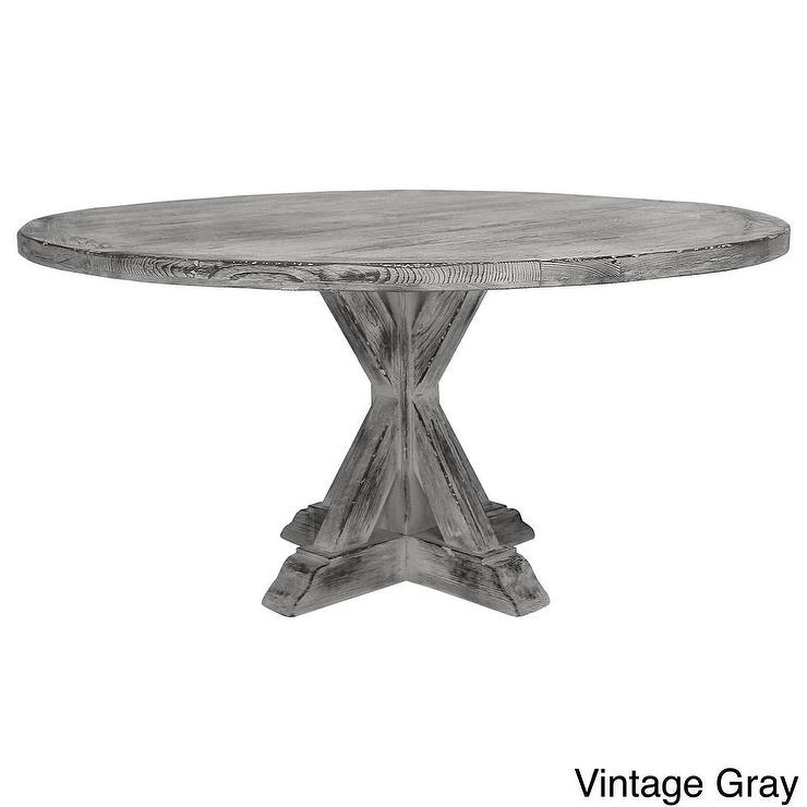 La Phillippe Reclaimed Wood Round Dining Table Overstockcom