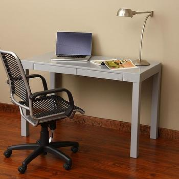 Tables - Grey Student Desk | Overstock.com - gray desk, gray student desk, gray parsons desk, modern gray desk, contemporary gray desk,