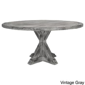 Tables - La Phillippe Reclaimed Wood Round Dining Table | Overstock.com - gray round dining room table, reclaimed wood round dining table, reclaimed douglas fir round dining table,