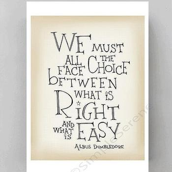 Art/Wall Decor - Albus Dumbledore quote poster Harry Potter movie by SimpleSerene I Etsy - harry potter wall quote, harry potter art print quote, albus dumbledore art print quote,