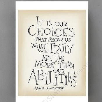 Art/Wall Decor - Harry Potter quote poster Albus Dumbledore quote by SimpleSerene I Etsy - harry potter wall quote, harry potter art print quote, albus dumbledore art print quote,