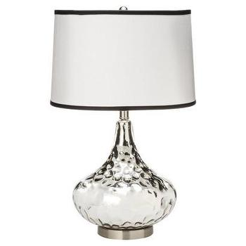 Lighting - Polished Glass Table Lamp - Silver I Target - silver table lamp, silver glass table lamp, silver table lamp with drum shade,