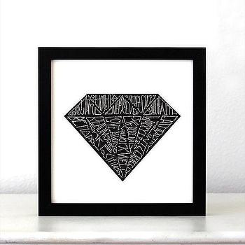 Art/Wall Decor - Black Diamond Life Quote Poster Inspirational art by SimpleSerene I Etsy - black and white inspirational wall art, black and white inspirational wall decor, black and white inspirational art print,
