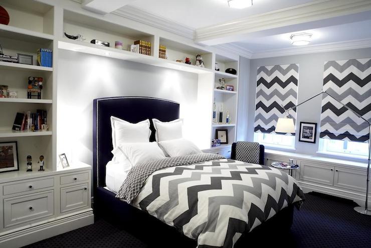 Chevron Duvet Contemporary Boy S Room The Renovated Home