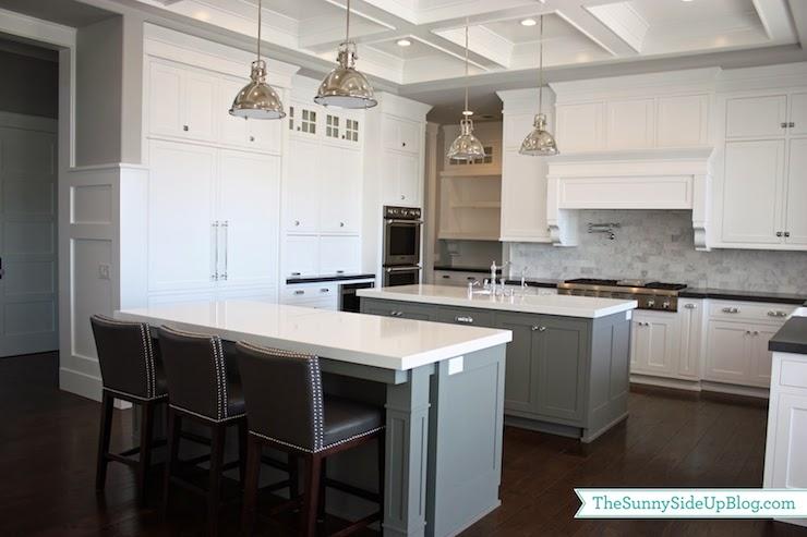 Gray kitchen islands transitional kitchen benjamin for Benjamin moore chelsea gray kitchen