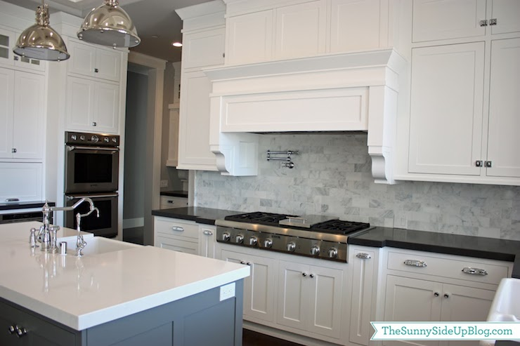 Thermador stove transitional kitchen benjamin moore for Chelsea gray kitchen cabinets