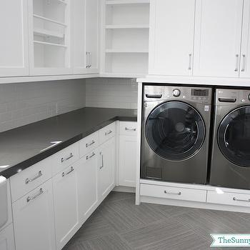 Washer Dryer Platform, Transitional, laundry room, Sunny Side Up