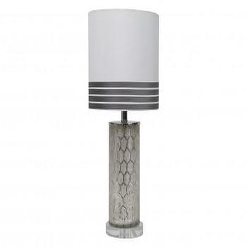 Lighting - Eldridge Lamp | Jayson Home - silver etched glass lamp, silver lattice table lamp, silver etched lattice table lamp,
