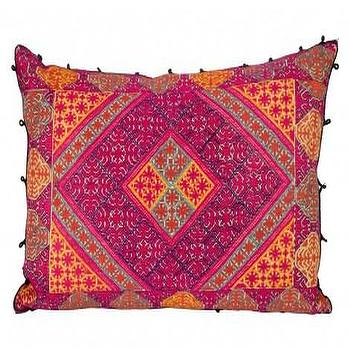 Pillows - Fresca Pillow | Jayson Home - purple and orange pillow, vintage orange and purple pillow, ethnic orange and purple pillow,