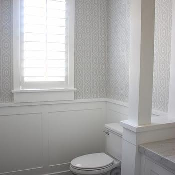 Powder Room Wainscoting, Transitional, bathroom, Sunny Side Up