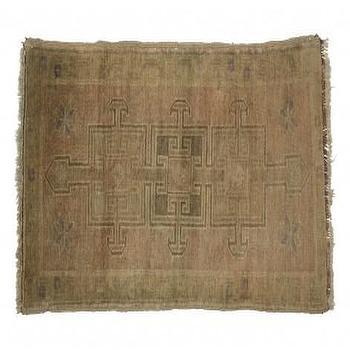 Rugs - Vintage Oushak Rug I Jayson Home - vintage turkish rug, vintage oushak rug, khaki colored oushak rug, vintage turkish oushak rug,