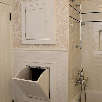 Laundry Chute, Transitional, bathroom, ISK Design and Interiors