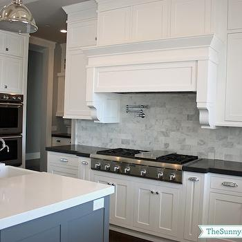 Thermador Stove, Transitional, kitchen, Benjamin Moore Chelsea Gray, Sunny Side Up