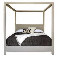 Beds/Headboards - Clarke Queen Bed | Jayson Home - four poster bed, upholstered canopy bed, upholstered linen canopy bed,
