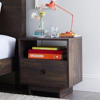 Storage Furniture - Emmerson Nightstand - Chestnut | west elm - reclaimed wood nightstand, reclaimed pallet nightstand, reclaimed pine pallet nightstand,
