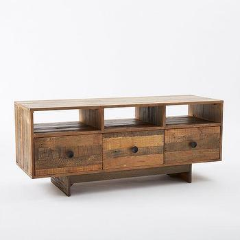 Storage Furniture - Emmerson Media Console | west elm - reclaimed wood media console, reclaimed pine media console, reclaimed pallet media console, modern reclaimed wood media console,