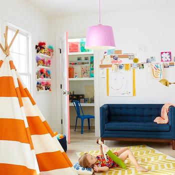 Striped Teepee, Contemporary, girl's room, Land of Nod