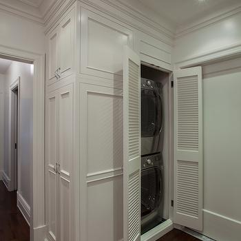 The Renovated Home - entrances/foyers - closet washer dryer, closet washer and dryer, washer dryer closet, washer and dryer closet, stacked washer dryer, stacked washer and dryer, hall washer dryer, hall washer and dryer, hidden washer dryer, hidden washer and dryer,