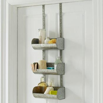 Decor/Accessories - Conveyor Shelf Over The Door Organizer | west elm - metal over the door storage, galvanized steel over the door organizer, industrial over the door organizer, industrial over the door storage,