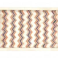 Decor/Accessories - Zig Zag Bone Tray | Jayson Home - zig zag bone tray, chevron bone inlay tray, colored chevron bone inlay tray, colored bone inlaid chevron tray,