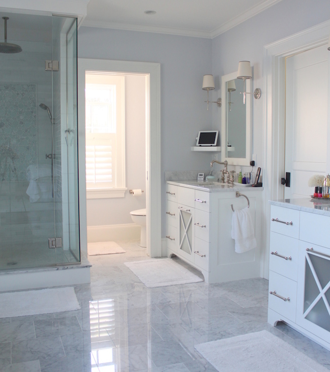 His And Her Vanities Transitional Bathroom Molly Frey Design