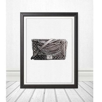 Art/Wall Decor - Original Watercolor Painting Fashion Illustration by Julia Mikhailiuk theArtForYou - chanel, art, le boy, boy, bag, purse, fashion, quilted
