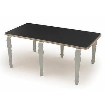 Tables - Context Furniture William & Mary Long Table | 2Modern - aluminium leg black table, long black table with aluminum base, anodized aluminium leg long black table,