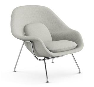 Seating - Knoll Medium Womb Chair | 2Modern - modern gray chair, gray womb chair, modern gray chair with chrome base, modern gray chair with chrome legs,