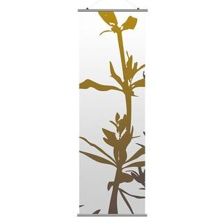 Art/Wall Decor - Inhabit Wildflower Slat | 2Modern - gold and white floral wall art, gold and white floral wall banner, gold and white floral hanging screen,