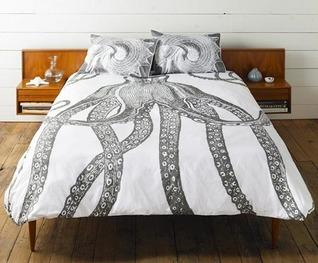 Bedding - Thomaspaul Octopus Duvet Cover | 2Modern - octopus bedding, octopus patterned duvet cover, black and white octopus duvet cover, thomaspaul octopus bedding, thomaspaul octopus duvet cover,