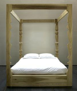 Beds/Headboards - Hivemindesign Rune Bed | 2Modern - poplar canopy bed, modern canopy bed, light wooden canopy bed, modern poplar canopy bed,