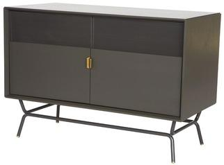 Storage Furniture - Blu Dot Dang Media Stand | 2Modern - steel media stand, steel media console, modern steel media stand, modern steel media console with brass hardware,