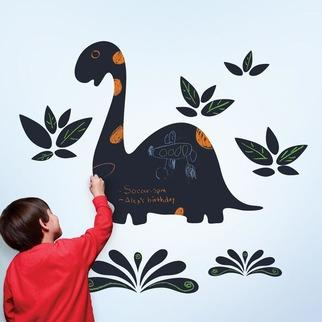 Wallpaper - WallCandy Chalkasaurus Decals | 2Modern - kids dinosaur wallpaper, peel and stick dinosaur wall decal, temporary dinosaur wall decal, chalkboard dinosaur wall decal, write on dinosaur wall decal, draw on dinosaur wallpaper,
